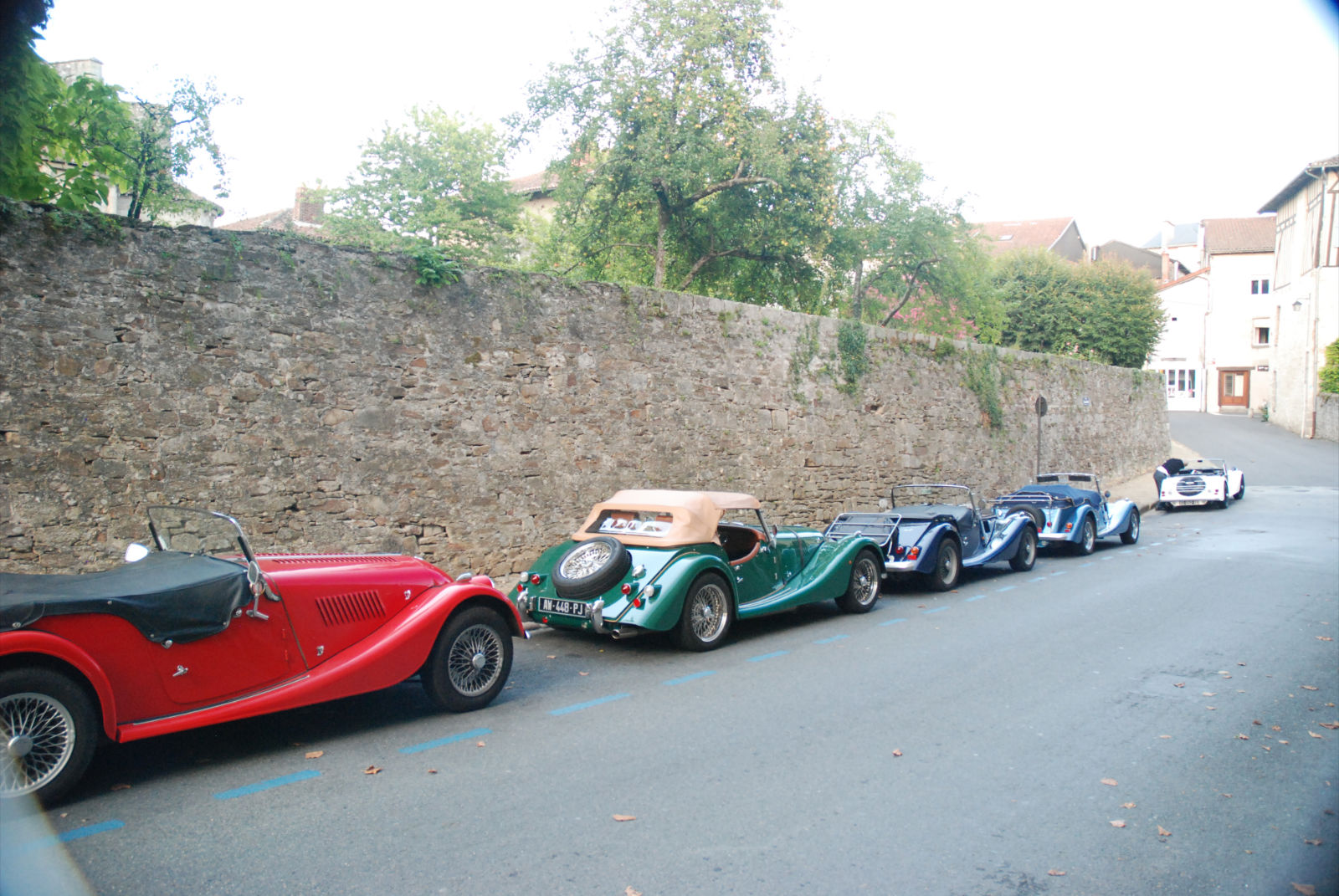 when Morgan cars meet in limousin.